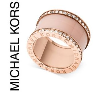 Michael Kors Rose-Gold Tone Barrel Ring